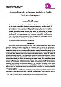 An Autoethnography on Language Ideologies in ...