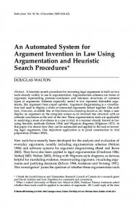 An Automated System for Argument Invention in
