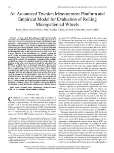 An Automated Traction Measurement Platform and ...