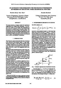 AN AUTOMATIC TIME-FREQUENCY PROCEDURE ... - IEEE Xplore