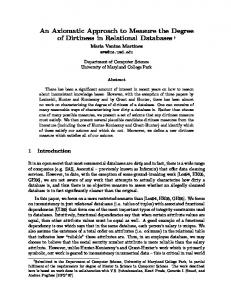 An Axiomatic Approach to Measure the Degree of Dirtiness in ...