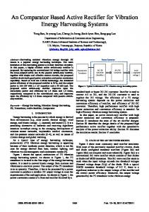 An comparator based active rectifier for vibration energy harvesting ...