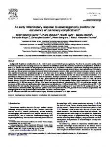 An early inflammatory response to ... - Semantic Scholar