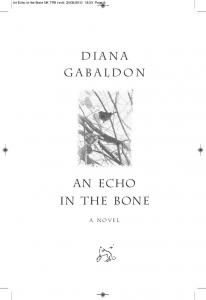 AN ECHO IN THE BONE - Orion Books