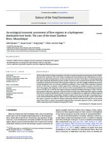 An ecological economic assessment of flow regimes in ... - SaciWATERs