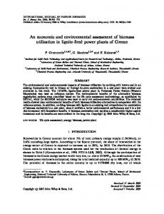 An economic and environmental assessment of ... - Wiley Online Library