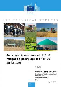 An economic assessment of GHG mitigation policy options for EU ...