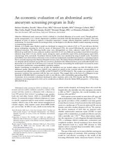 An economic evaluation of an abdominal aortic aneurysm screening ...