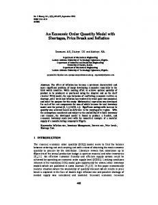 An Economic Order Quantity Model with Shortages, Price Break and ...