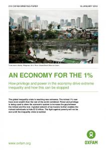 An Economy For the 1% - Oxfam International