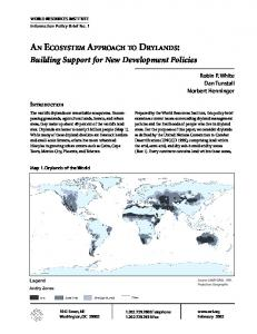 AN ECOSYSTEM APPROACH TO DRYLANDS - World Resources ...