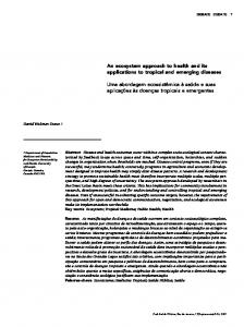 An ecosystem approach to health and its ... - Scielo Public Health