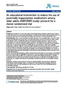 An educational intervention to reduce the use of potentially ...