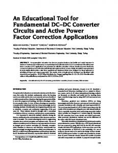 An educational tool for fundamental DCDC ... - Wiley Online Library