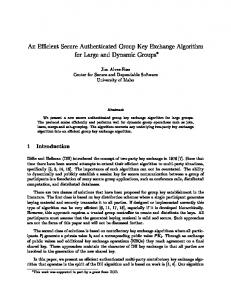 An Effcient Secure Authenticated Group Key Exchange Algorithm for ...
