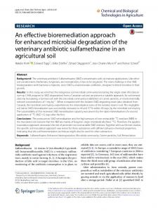 An effective bioremediation approach for enhanced microbial ...