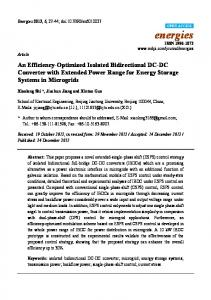 An Efficiency-Optimized Isolated Bidirectional DC-DC Converter with ...