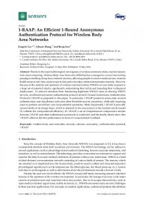 An Efficient 1-Round Anonymous Authentication Protocol for ... - MDPI