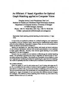 An Efficient A based Algorithm for Optimal Graph Matching ... - CiteSeerX
