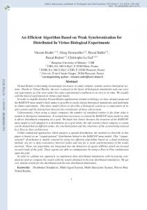 An Efficient Algorithm Based on Weak Synchronization for Distributed ...