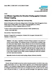 An Efficient Algorithm for Direction Finding against Unknown ... - MDPI