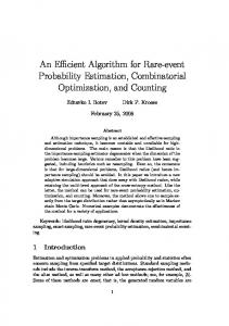 An Efficient Algorithm for Rare-event Probability