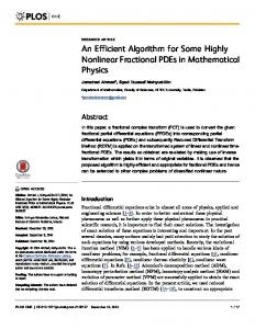 An Efficient Algorithm for Some Highly Nonlinear ... - Semantic Scholar