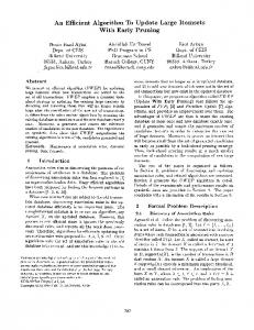 An Efficient Algorithm To Update Large Itemsets ... - ACM Digital Library
