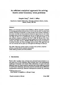 An efficient analytical approach for solving fourth order boundary ...