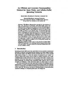 An Efficient and Accurate Decomposition Method for Open Finite- and ...
