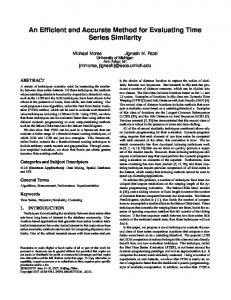 An Efficient and Accurate Method for Evaluating Time Series Similarity