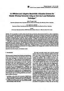 An Efficient and Adaptive Bandwidth Allocation ... - Springer Link