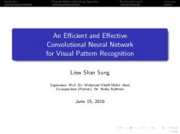 An Efficient and Effective Convolutional Neural