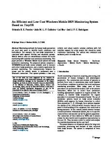 An Efficient and Low Cost Windows Mobile BSN ... - Semantic Scholar