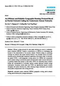 An Efficient and Reliable Geographic Routing Protocol Based ... - MDPI
