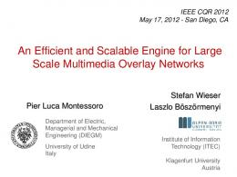 An Efficient and Scalable Engine for Large Scale ... - Semantic Scholar