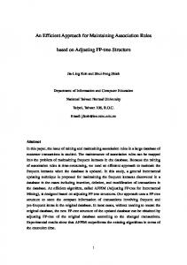 An Efficient Approach for Maintaining Association Rules based on ...