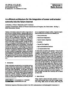 An efficient architecture for the integration of sensor and actuator ...