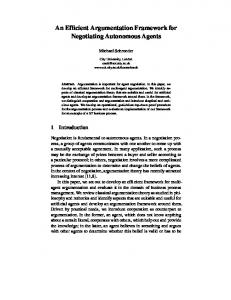 An Efficient Argumentation Framework for ... - Semantic Scholar