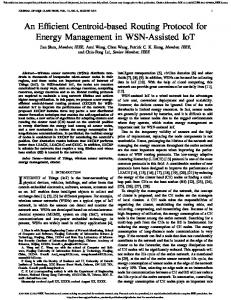 An Efficient Centroid-based Routing Protocol for Energy ... - IEEE Xplore
