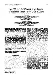 An Efficient Certificate Revocation and Verification
