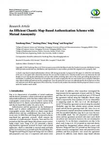 An Efficient Chaotic Map-Based Authentication Scheme with Mutual ...