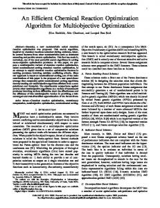 An Efficient Chemical Reaction Optimization Algorithm ... - IEEE Xplore