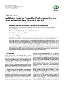 An Efficient Clustering Protocol for Wireless Sensor Networks Based ...