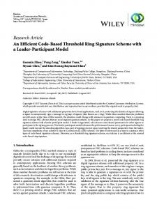 An Efficient Code-Based Threshold Ring Signature Scheme with a