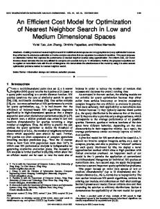 An Efficient Cost Model for Optimization of Nearest Neighbor Search ...
