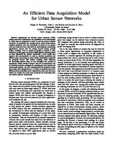 An Efficient Data Acquisition Model for Urban Sensor Networks