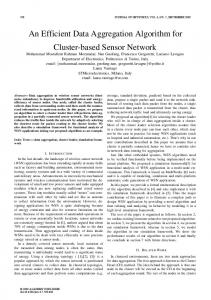 An Efficient Data Aggregation Algorithm for Cluster ... - Semantic Scholar