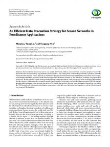 An Efficient Data Evacuation Strategy for Sensor Networks in ...