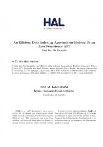 An Efficient Data Indexing Approach on Hadoop Using ... - HAL-Inria
